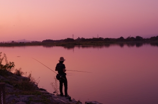 A lonely fisherman